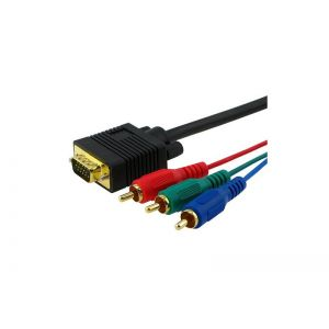 5Ft VGA to 3RCA Component Cable