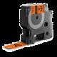 Dymo 18436 IND 19mm 3/4 Inch Vinyl Black on Orange Tape, Compatible